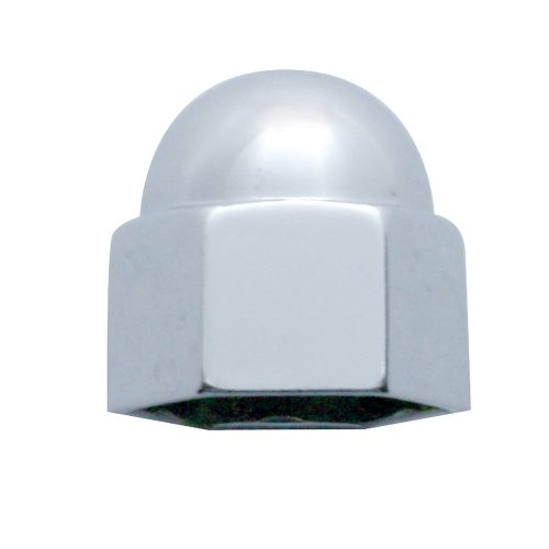 "(BULK) CHROME ZINC 11/16"" x 7/8"" ACORN NUT COVER"