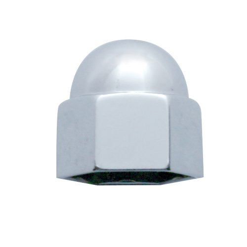 "(BULK) CHROME ZINC 5/8"" x 3/4"" ACORN NUT COVER"