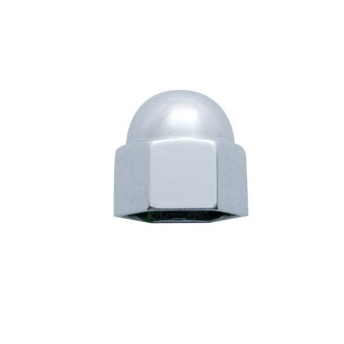 "(BULK) CHROME ZINC 3/8"" x 5/8"" ACORN NUT COVER"