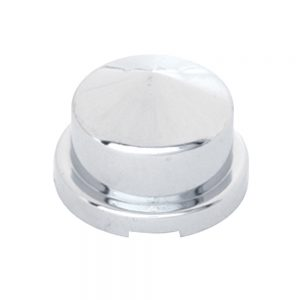 """(BULK) CHROME PLASTIC 3/4"""" x 7/8"""" POINTED ROUND NUT COVER FOR HEX HEAD BOLTS"""