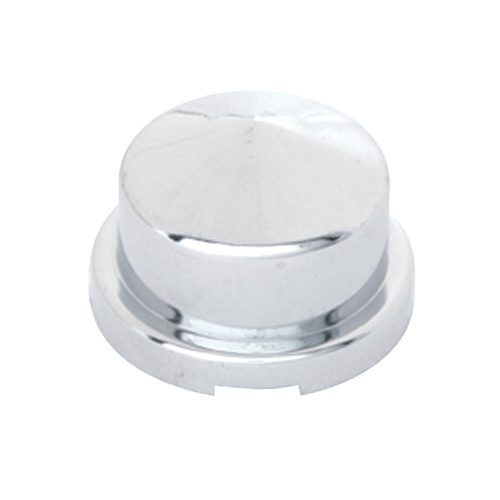 "(BULK) CHROME PLASTIC 3/4"" x 7/8"" POINTED ROUND NUT COVER FOR HEX HEAD BOLTS"