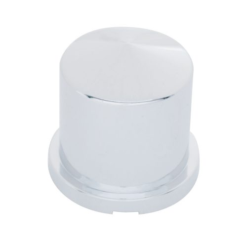 """(BULK) CHROME PLASTIC 33mm x 1 7/8"""" POINTED ROUND PUSH-ON NUT COVER FOR HEX HEAD BOLTS"""