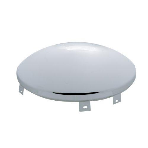 """(BULK) CHROME UNIVERSAL DOME FRONT HUB CAP - 9/16"""" LIP"""