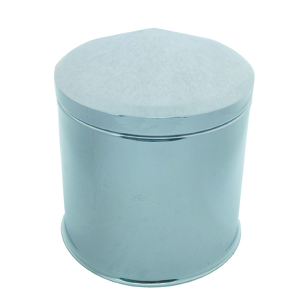 (BULK) CHROME REAR AXLE/HUB CAP HIGH HAT W/ REMOVABLE POINTED HUB CAP ONLY