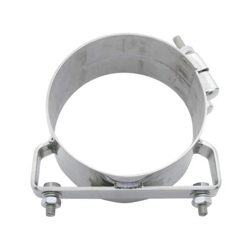 """(BULK) DELUXE STAINLESS STEEL WIDE BAND 6"""" EXHAUST CLAMP"""