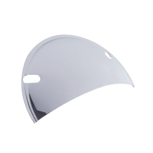 "(2/BULK) CHROME 5 3/4"" ROUND HEADLIGHT SHIELD"