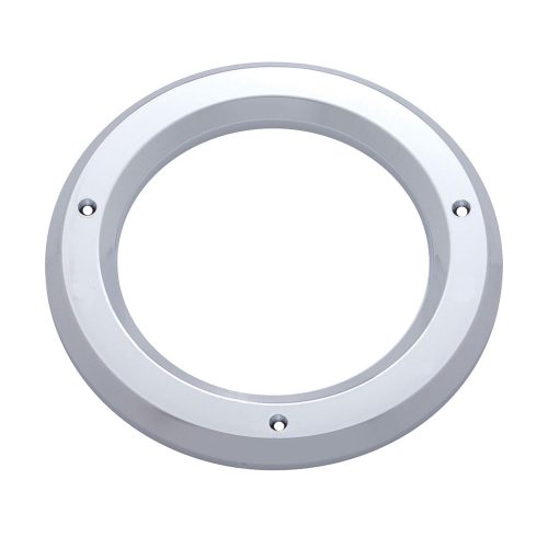"(CARD) CHROME PLASTIC 4"" BEZEL W/O VISOR"