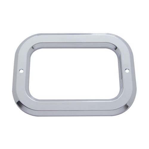 (CARD) CHROME PLASTIC RECTANGULAR BEZEL W/O VISOR