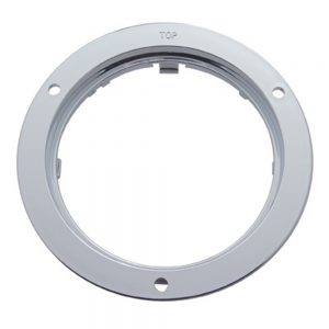 "(CARD) CHROME PLASTIC 4"" MOUNTING BEZEL"