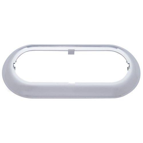 (BULK) CHROME PLASTIC SNAP-ON OVAL LIGHT BEZEL