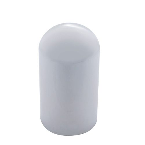 (10/PACK) CHROME PLASTIC 33mm DOME NUT COVER - THREAD-ON