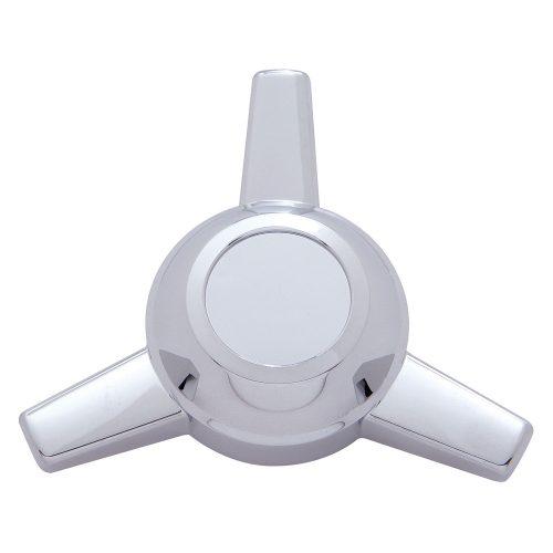 (BULK) CHROME PLASTIC SPINNER - 3 BAR STRAIGHT