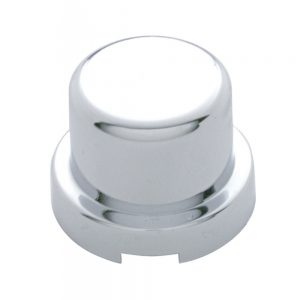 "(10/PACK) CHROME PLASTIC 7/16"" x 1/2"" FLAT TOP NUT COVER"