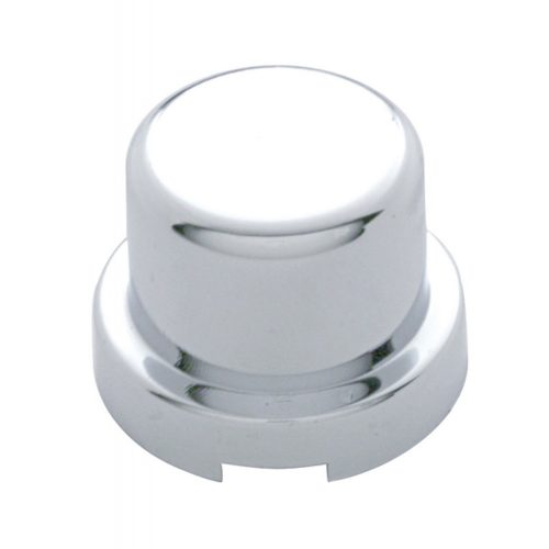 """(10/PACK) CHROME PLASTIC 7/16"""" x 1/2"""" FLAT TOP NUT COVER"""