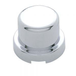 """(10/PACK) CHROME PLASTIC 1/2"""" x 5/8"""" FLAT TOP NUT COVER"""