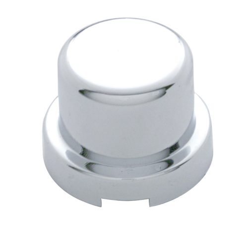 "(10/PACK) CHROME PLASTIC 1/2"" x 5/8"" FLAT TOP NUT COVER"
