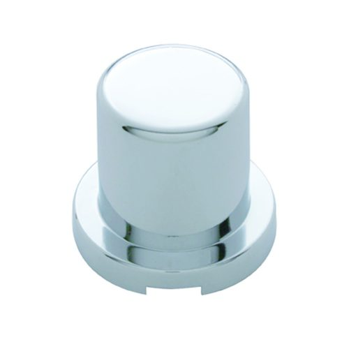 "(10/PACK) CHROME PLASTIC 3/4"" x 1 1/4"" FLAT TOP NUT COVER"