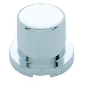 """(10/PACK) CHROME PLASTIC 15/16"""" x 1 3/16"""" FLAT TOP NUT COVER"""