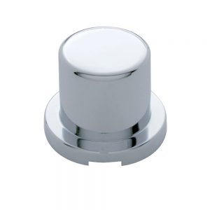 "(BULK) CHROME PLASTIC 1 1/8"" x 1 1/2"" FLAT TOP NUT COVER"