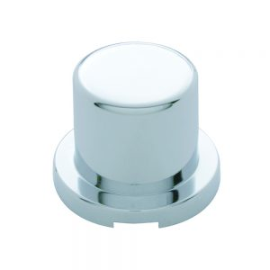 (10/PACK) CHROME PLASTIC 33mm FLAT TOP NUT COVER