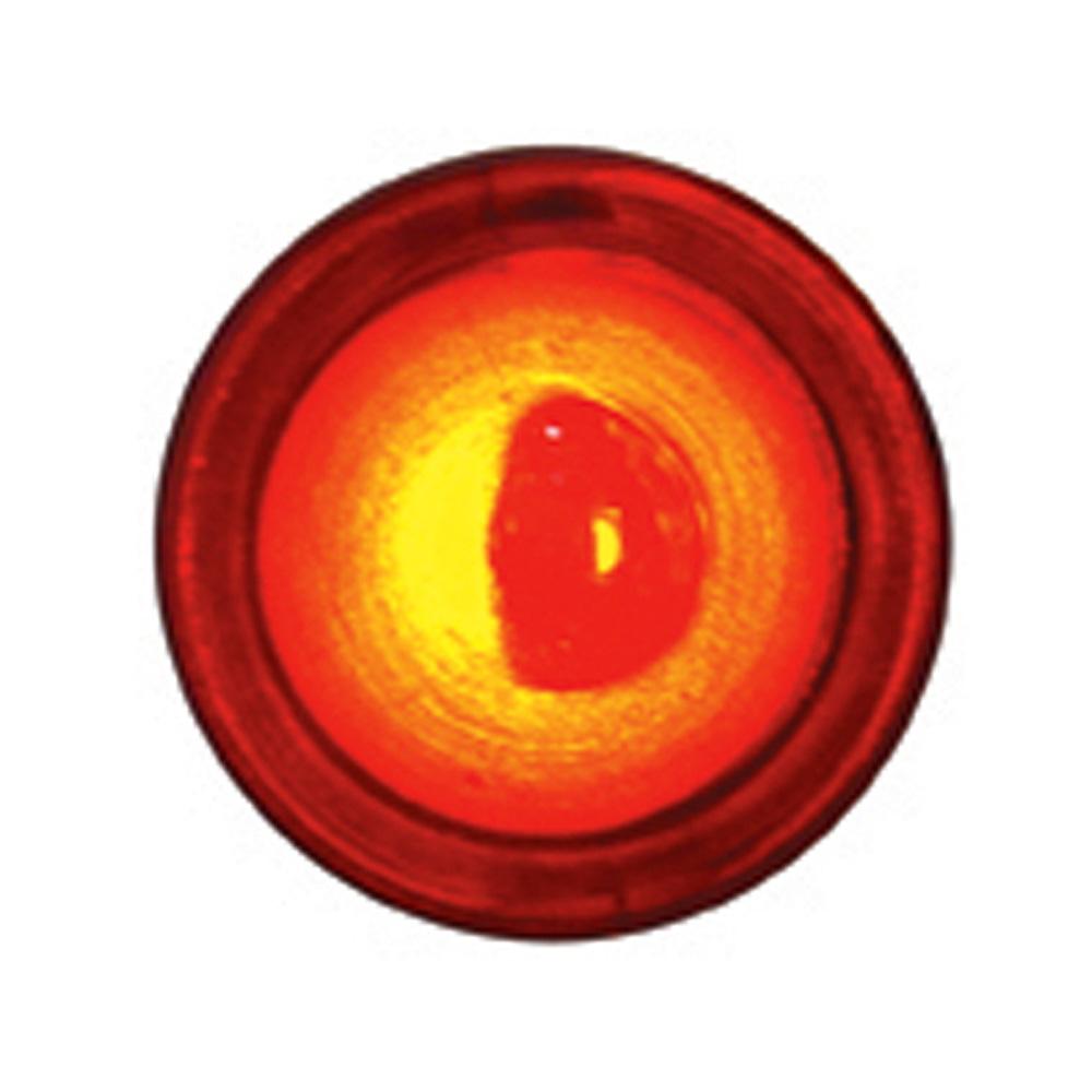(2/CARD) CHROME 1 LED BULLET FASTENER - RED