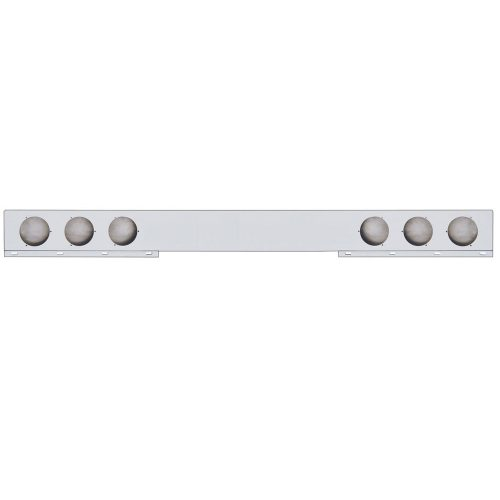 """(BULK) STAINLESS STEEL 94"""" 1 PIECE REAR LIGHT BAR W/ SIX 4"""" LIGHT CUTOUTS"""