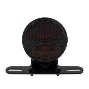 """(BOX) """"DUOLAMP"""" MOTORCYCLE REAR FENDER TAIL LIGHT - RED GLASS LENS"""