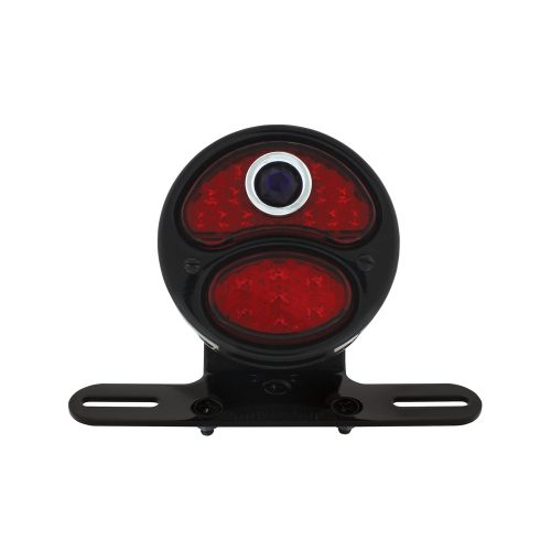 "(BOX) LED ""DUO LAMP"" WITH BLUE DOT MOTORCYCLE REAR FENDER TAIL LIGHT"