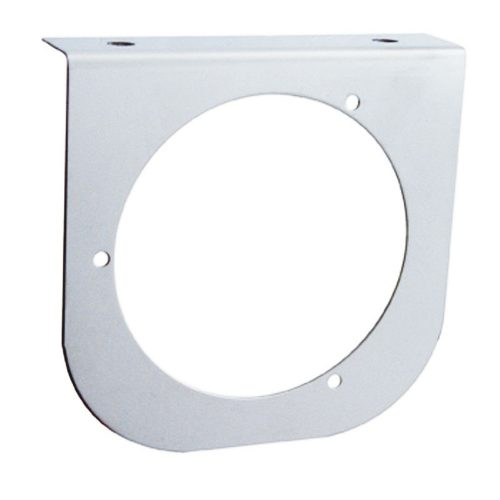 "(BULK) STAINLESS STEEL LIGHT BRACKET W/ ONE 4"" LIGHT CUTOUT"