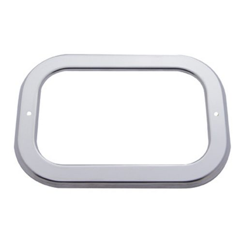 (CARD) STAINLESS STEEL RECTANGULAR LIGHT BEZEL