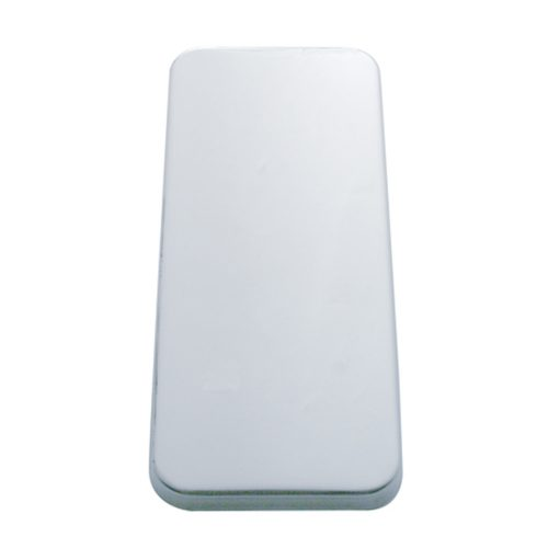 (2/BULK) STAINLESS STEEL PETERBILT VENT DOOR COVER - PLAIN