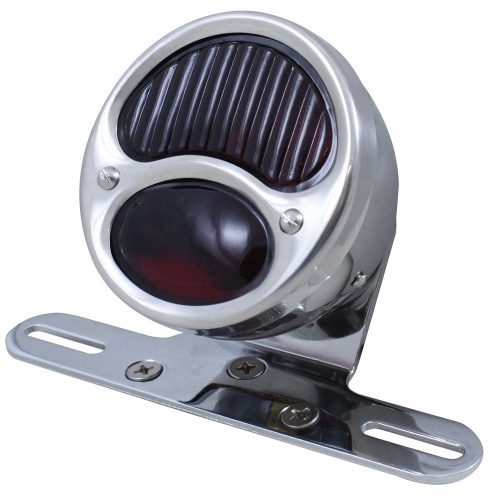 "(BOX) ""1928 DUO LAMP"" TAIL LIGHT WITH RED GLASS LENS"