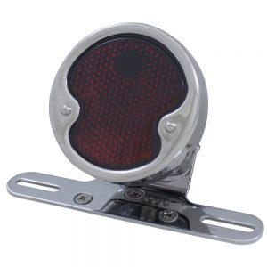 "(BOX) ""1932 DUO LAMP"" TAIL LIGHT WITH RED GLASS LENS"