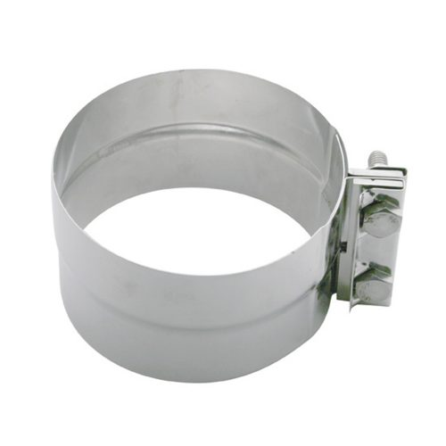 """(BULK) STAINLESS STEEL 5"""" EXHAUST CLAMP W/ HARDWARE"""