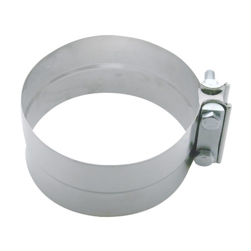 """(BULK) STAINLESS STEEL 6"""" EXHAUST CLAMP W/ HARDWARE"""