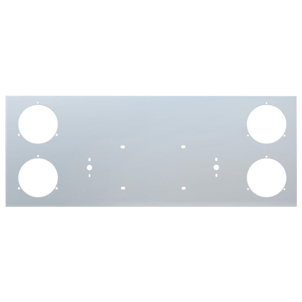 "(BOX) STAINLESS STEEL REAR CENTER LIGHT PANEL W/ FOUR 4"" LIGHT CUTOUT"