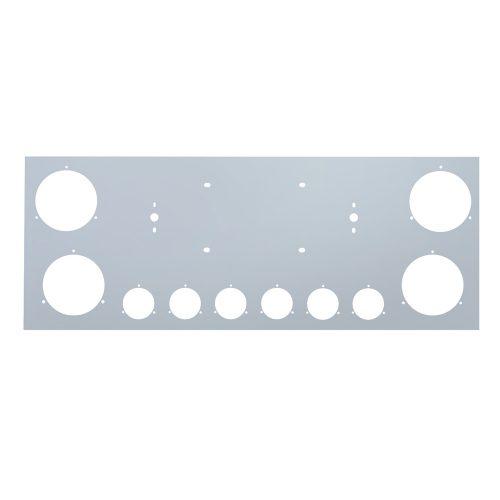 """(BOX) STAINLESS STEEL REAR CENTER LIGHT PANEL W/ FOUR 4"""" LIGHT CUTOUT & SIX 2"""" LIGHT CUTOUTS"""