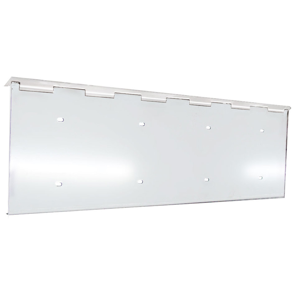 (BULK) STAINLESS STEEL 2 LICENSE PLATE HOLDER W/ HINGE