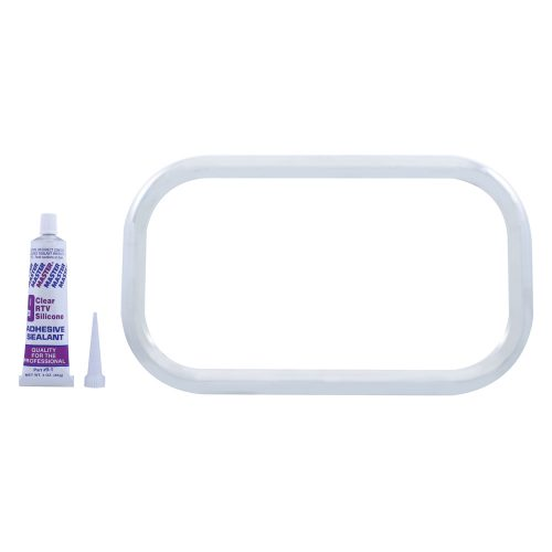 (BULK) STAINLESS STEEL FREIGHTLINER CURVED VIEW WINDOW TRIM W/ SEALANT ADHESIVE