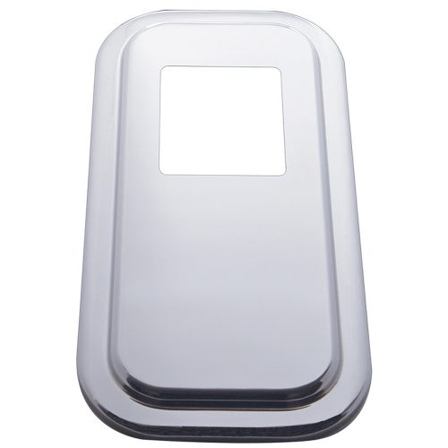 (SKPK) STAINLESS STEEL PETERBILT SHIFT PLATE COVER - SHORT HOOD