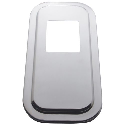 "(SKPK) STAINLESS STEEL PETERBILT SHIFT PLATE COVER - 5 3/4"" x 4 3/4"" OPENING"