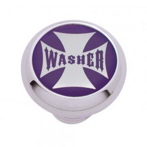 "(CARD) CHROME DELUXE W/ GLOSSY ""WASHER"" MALTESE CROSS STICKER - PURPLE"