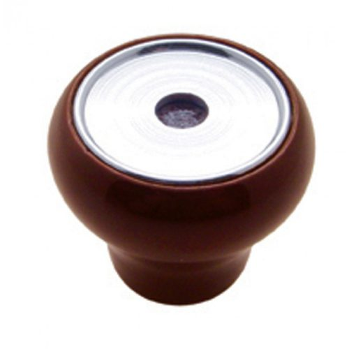 (CARD) WOOD DELUXE DASH KNOB W/ GROOVE