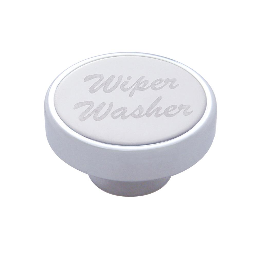 "(CARD) CHROME DASH KNOB W/ STAINLESS STEEL ""WIPER/WASHER"" PLAQUE"