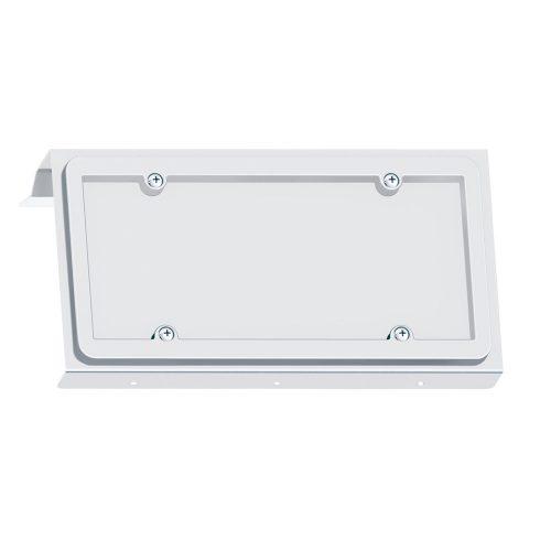 (BOX) STAINLESS 2003+ VOLVO VN LICENSE PLATE HOLDER - 1 PLATE