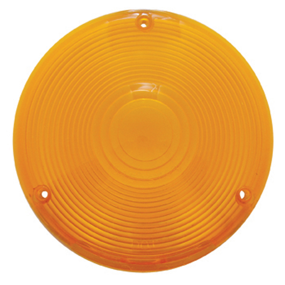 (BULK) PLASTIC TURN SIGNAL LENS - AMBER