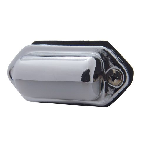 (BULK) OBLONG LICENSE LIGHT W/ CHROME HOUSING