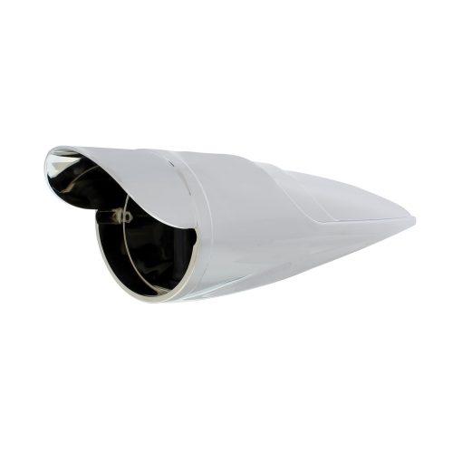 (BULK) CHROME PLASTIC GRAKON 1000 STYLE LED CAB LIGHT HOUSING W/ VISOR