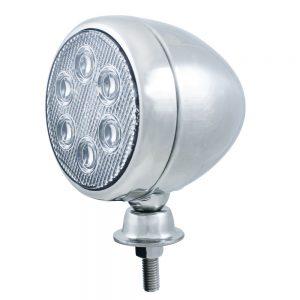 (BOX) 6 HIGH POWER LED TEARDROP CHROME WORK LIGHT - 12V/24V APPLICATION