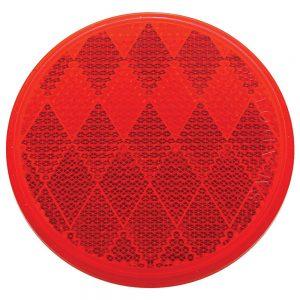 "(BULK) 3"" ROUND QUICK MOUNT REFLECTOR - RED"